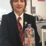 Will cleverly got his DNA to spiral using tethered string inside a clear bottle
