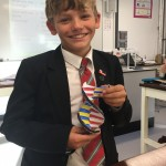 James used clever origami to make his DNA model