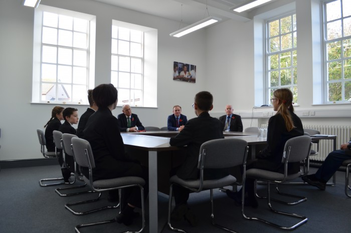 NIck Gibb with student group