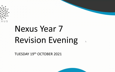 Year 7 Revision Evening 2021
